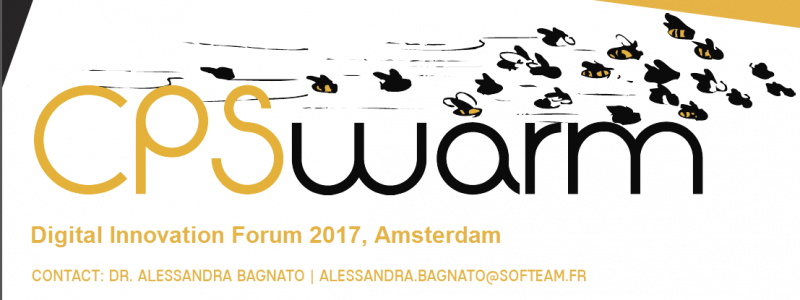 H2020 CPSwarm Project at DIF 2017 Exibition, Amsterdam